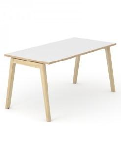 Bureau Nova Wood met wit blad en Eiken ABS rand