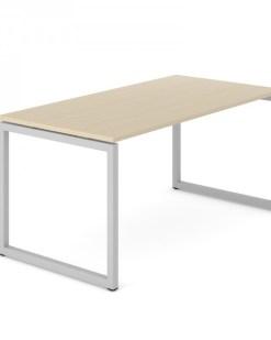 Bureau NOVA 74 O-poot, wit frame en licht eiken blad | Narbutas | Bureaustoelen MKB