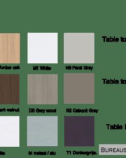 Bladkleuren en poot kleuren Bureau Nova 74| Narbutas | Bureaustoelen MKB