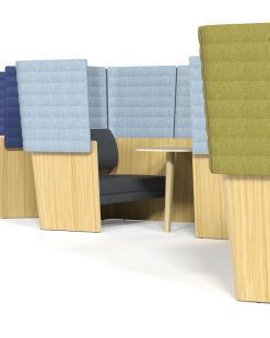 Archipelago Room-in-room opstelling in diverse kleuren. Bureaustoelen MKB