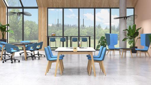 TTango Wood zonder armlggers. Bureaustoelen MKB