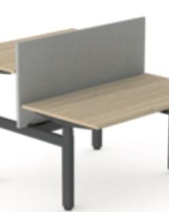 Flex duo zit sta bureau met Flex scherm. Bureaustoelen MKB