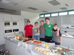 Die fleißigen Helfer in der Küche