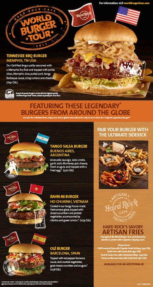 Hard Rock Cafe 2017 World Burger Tour