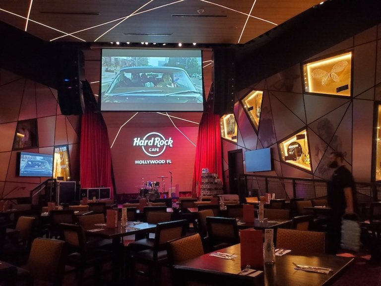Hard Rock Cafe in Hollywood has a Burger Room?