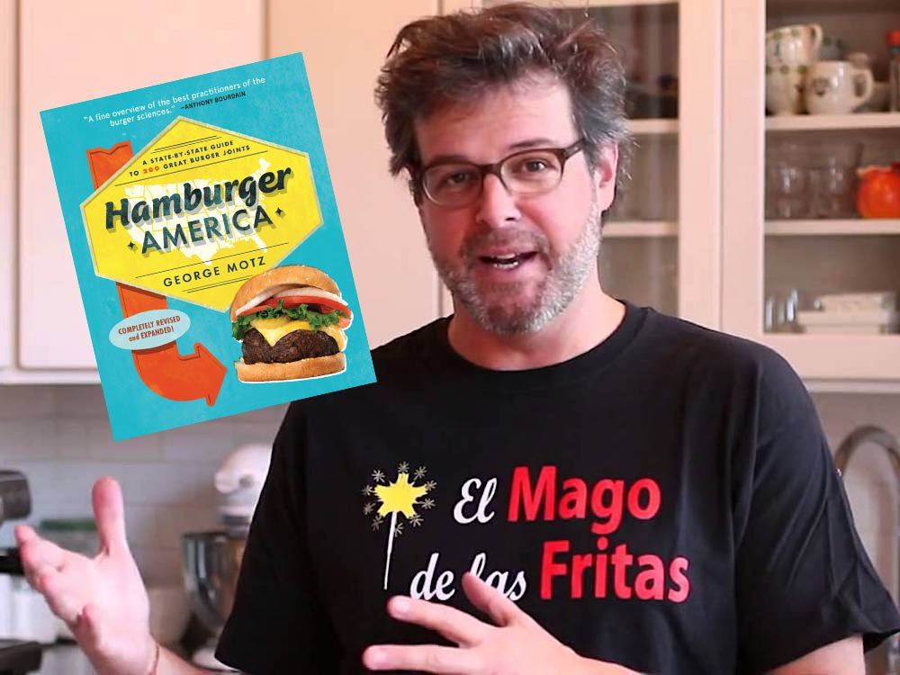 Burger Scholar George Motz with El Mago Shirt