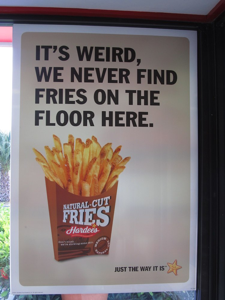 Hardee's Fries Sign