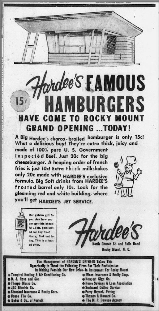 Hardee's Grand Opening 05-07-1961