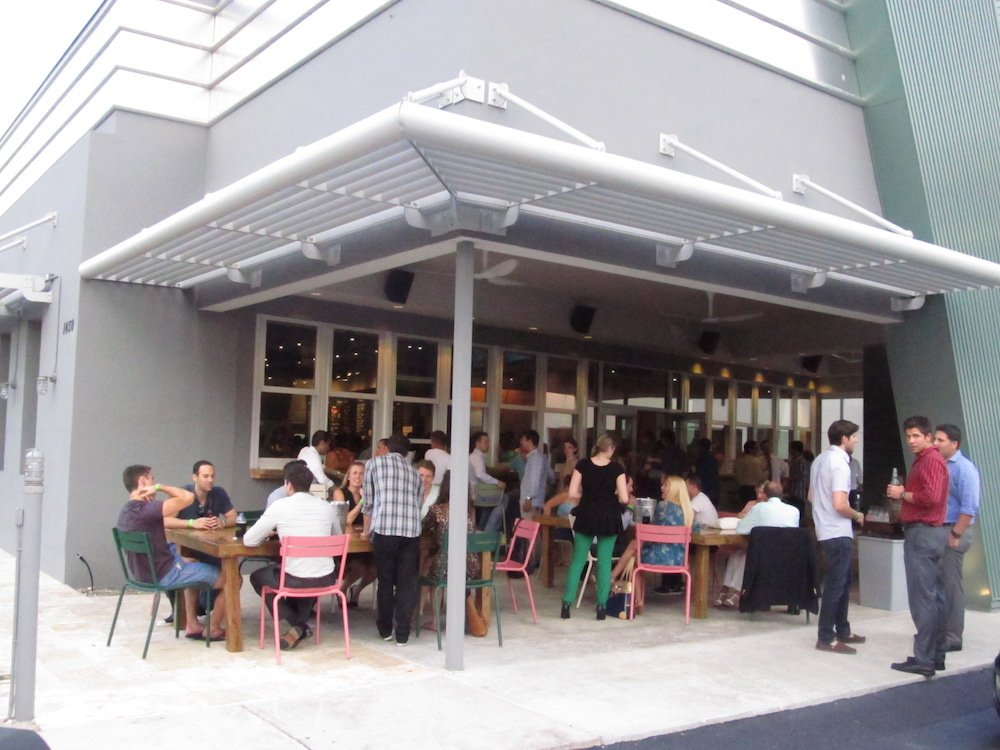 Lounging Outside Shake Shack Coral Gables