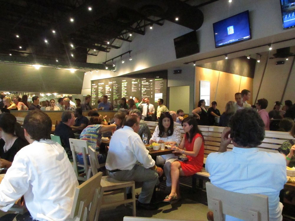 The scene inside the Grand Opening