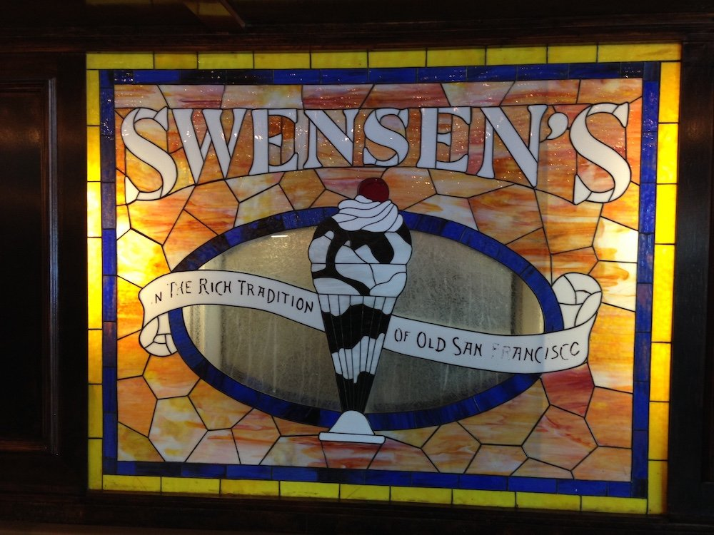 Swensen's Stained Glass Logo Sign