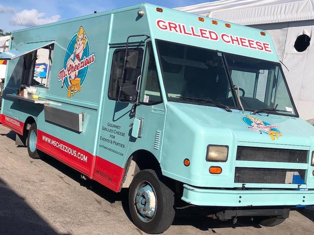 The newly redesigned Ms. Cheezious Food Truck