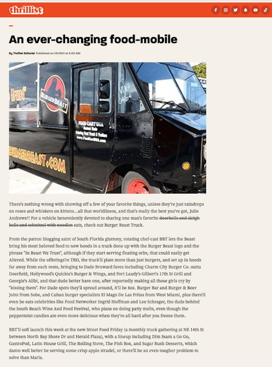 BEASTmobile on Thrillist January 6th, 2011