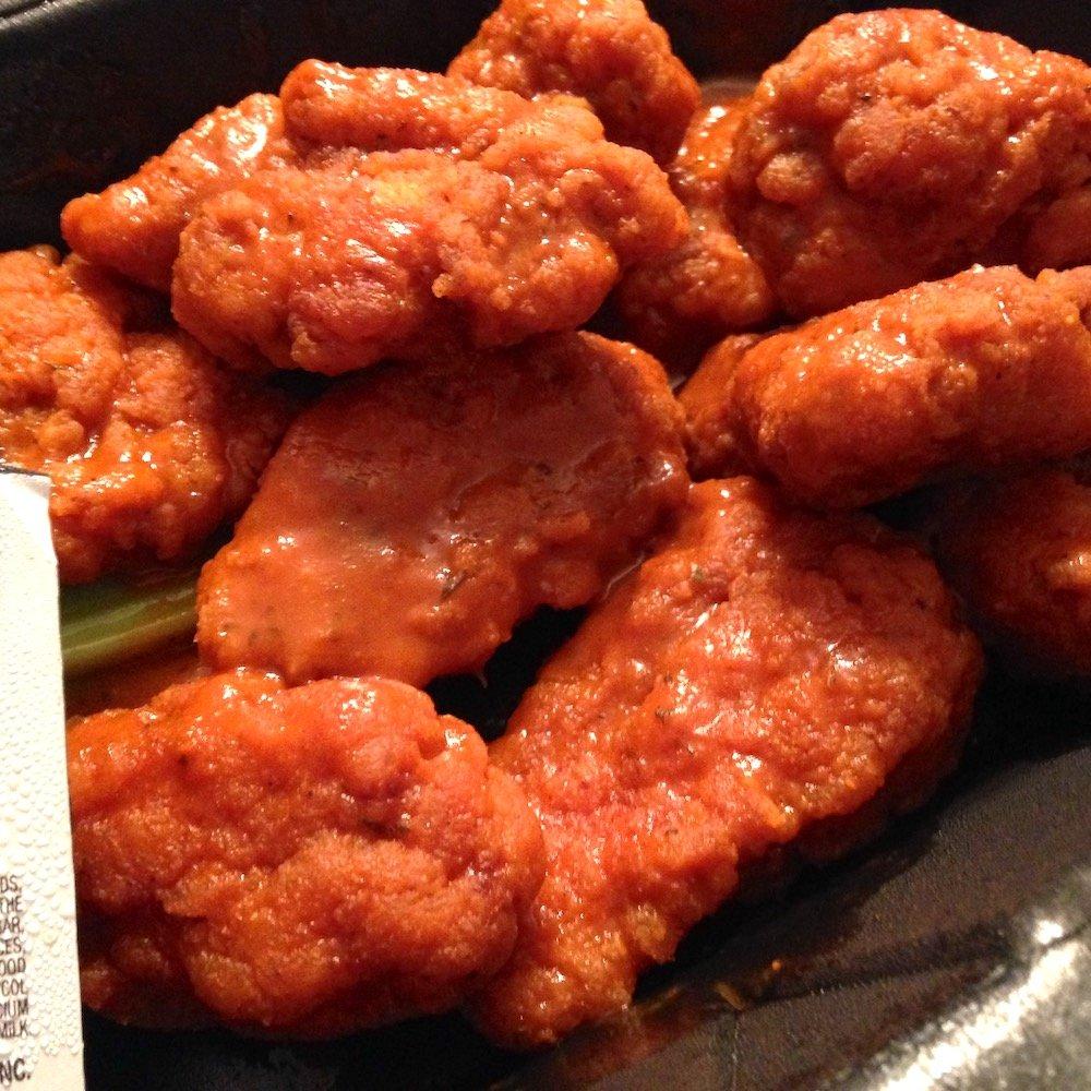 Boneless Wings in Hot Sauce