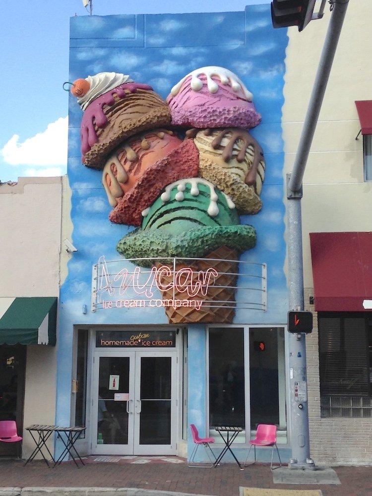 Azucar Ice Cream Building in Little Havana