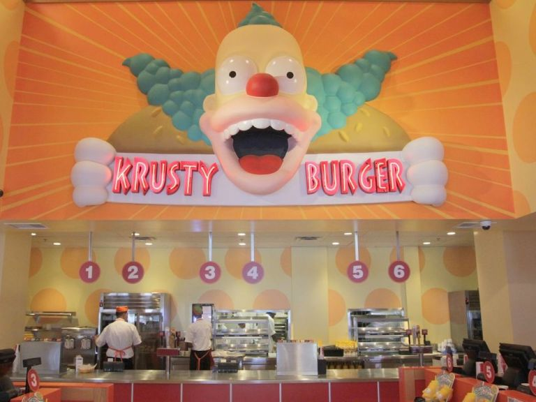 Krusty Burger & Duff Beer at Universal Studios