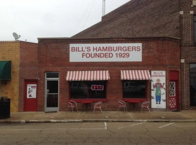 Make sure to get a Double at Bill's Hamburgers in Amory