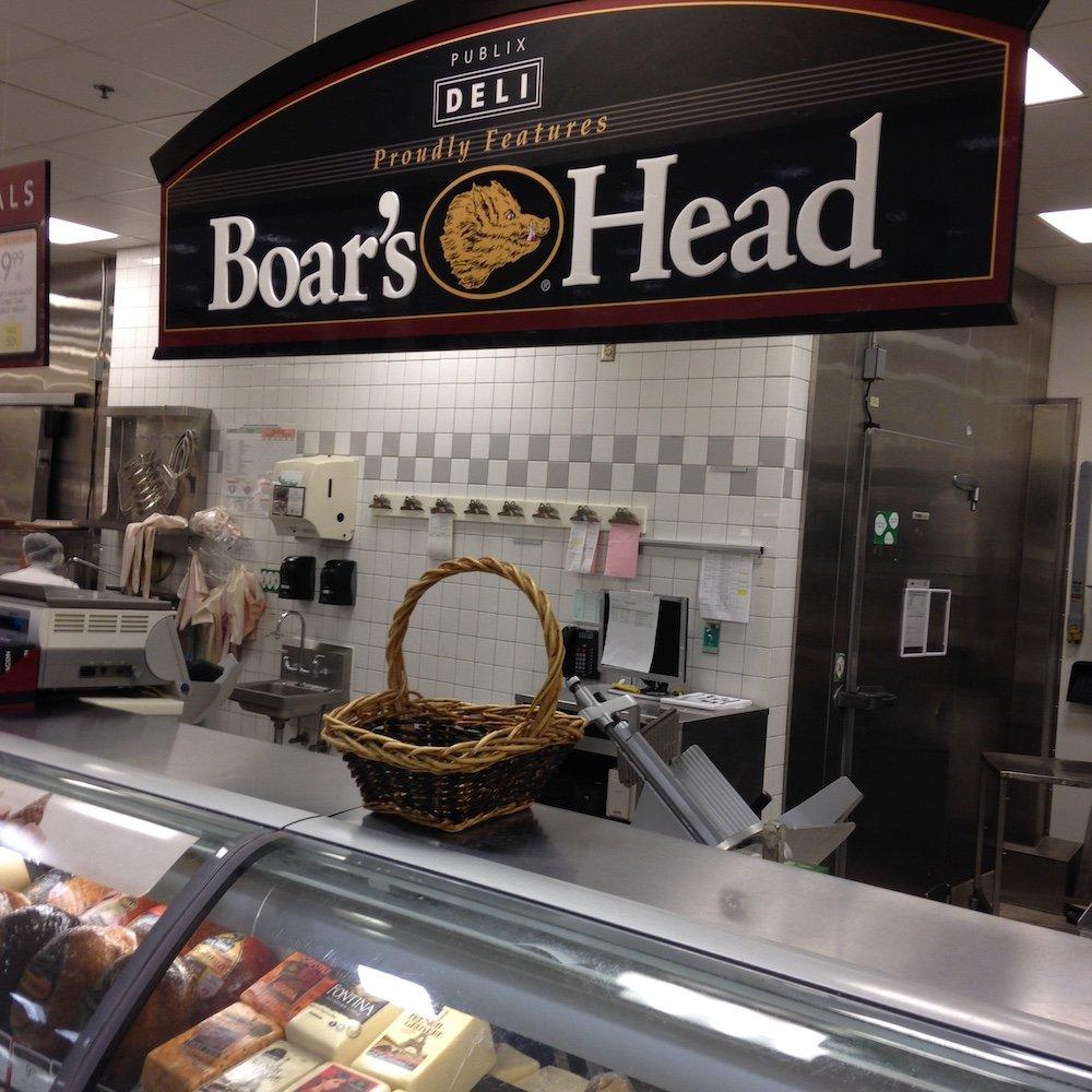 Boars Head Sub in the Deli Area