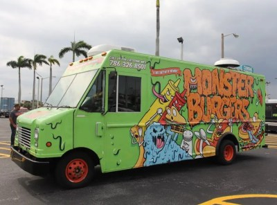 Monster Burgers Food Truck Serves Colombian Comida Rapida