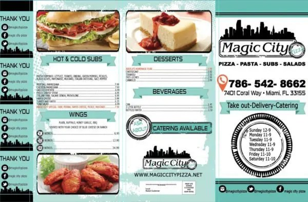 Magic City Pizza Page 1 (click to enlarge)