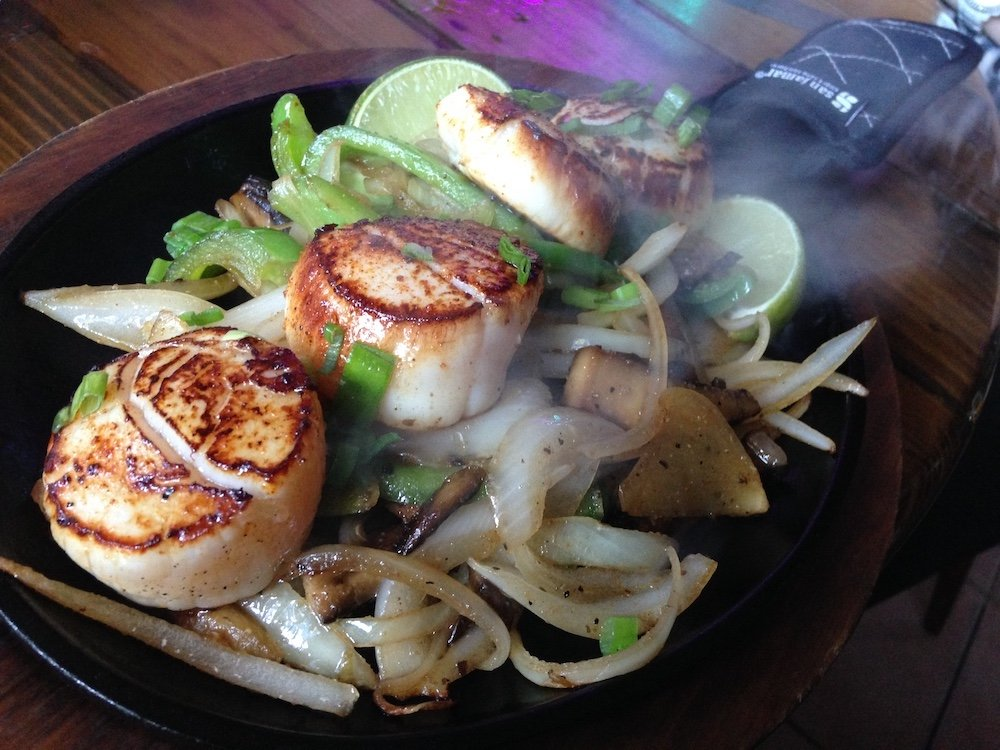 Scallop Skillet w/Onions & Peppers
