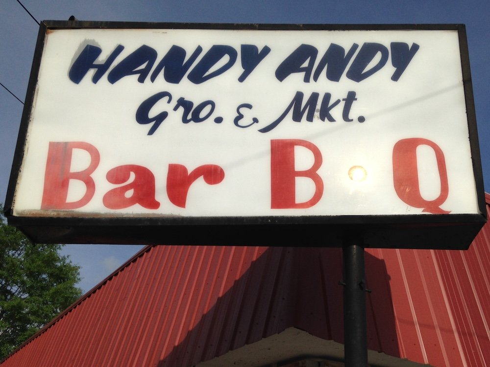 Handy Andy Grocery & BBQ Sign