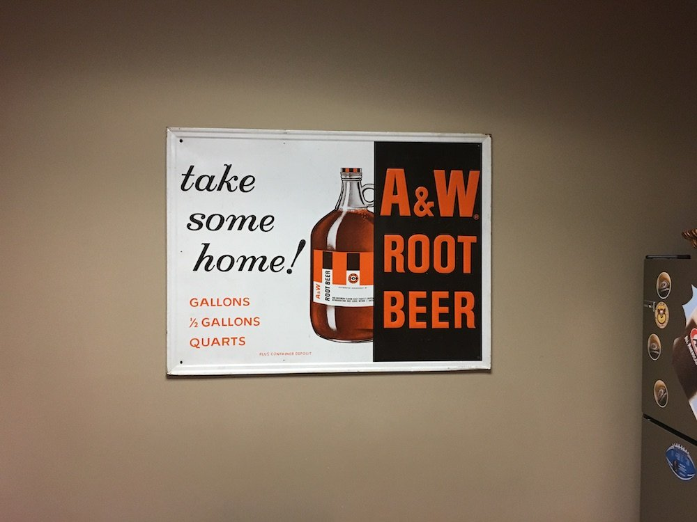 Take Some Home! A&W Sign