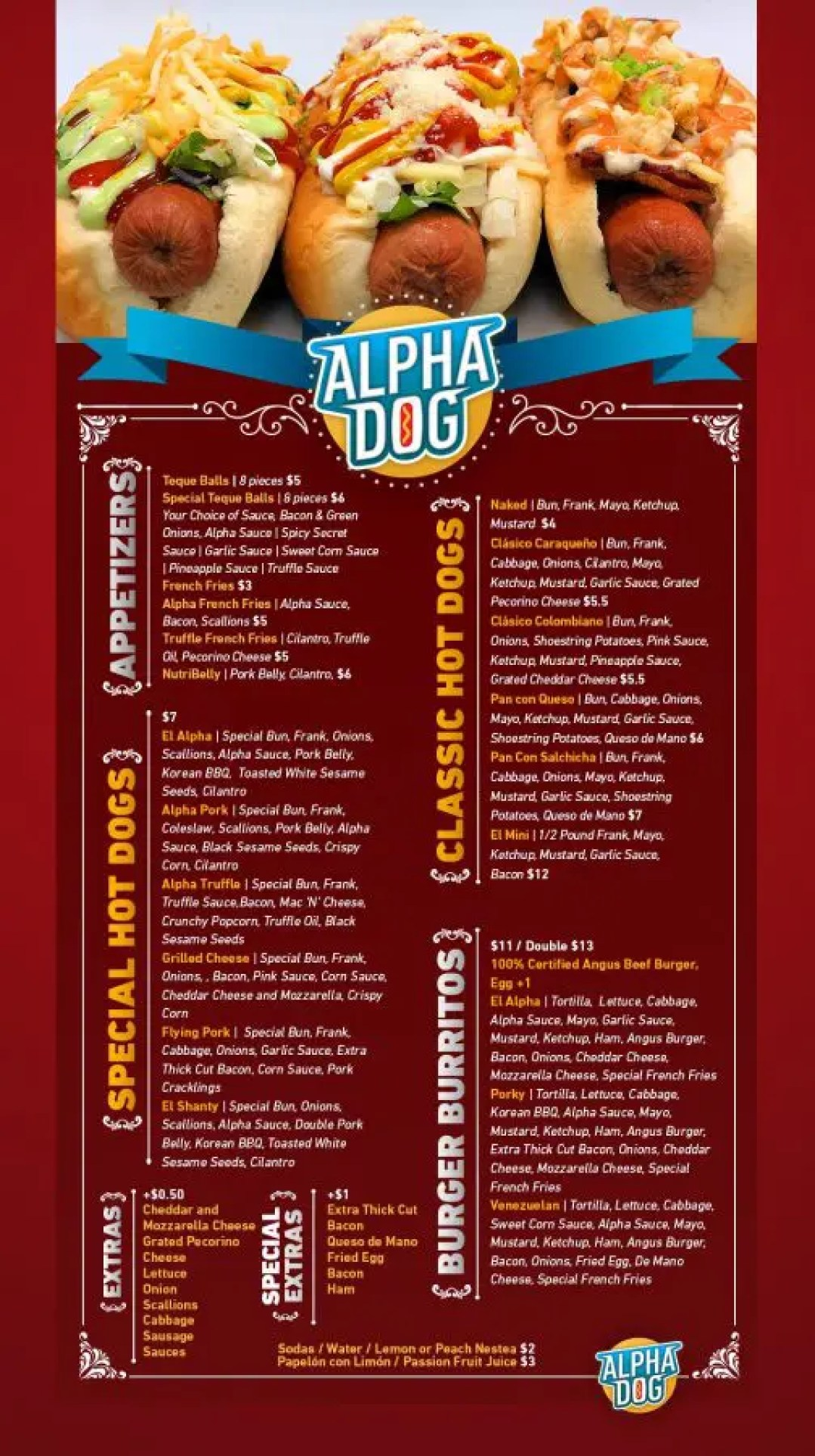El Alpha Dog Food Truck Menu