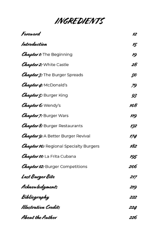 All About the Burger book chapters