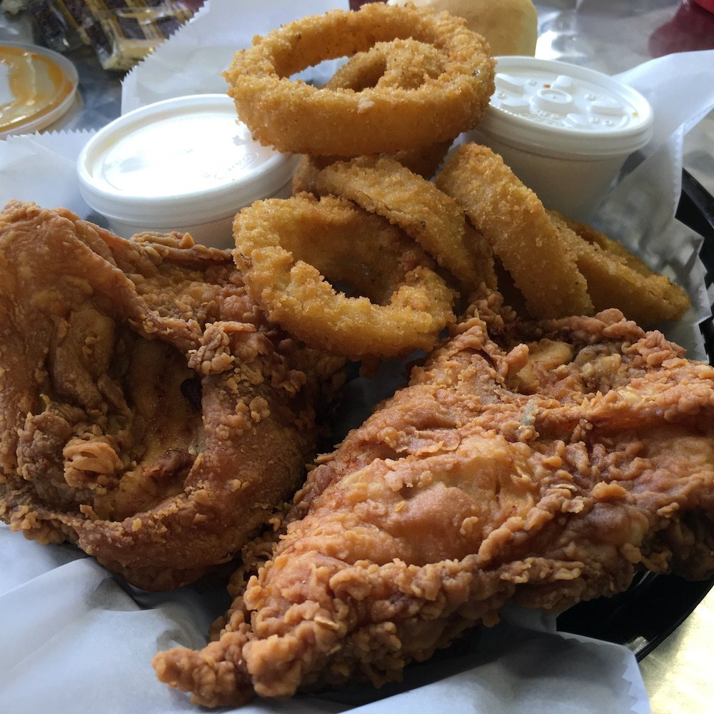 Fried Chicken & Onion Rings