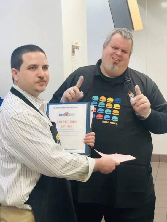 Burger Beast gets the pink slip from Store Manager Shawn