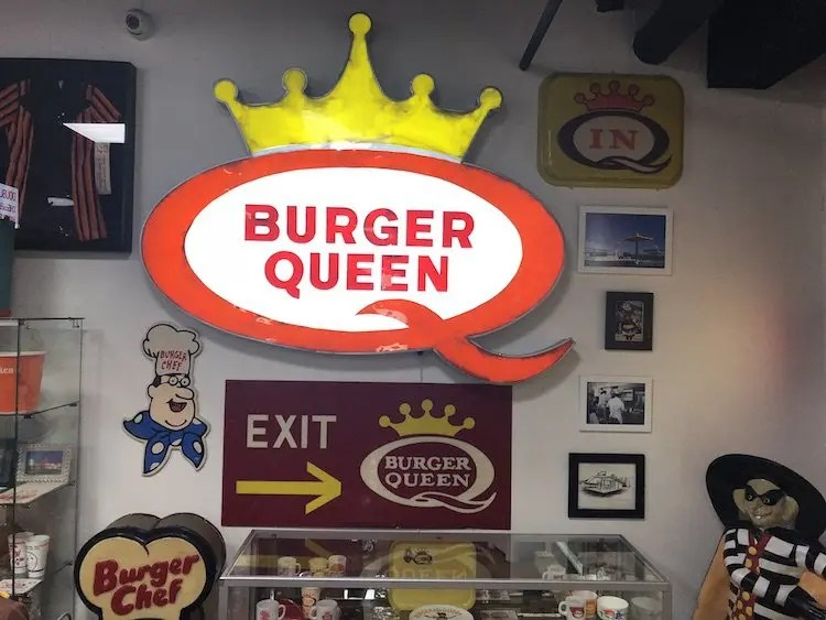 Burger Queen Sign at the Burger Museum