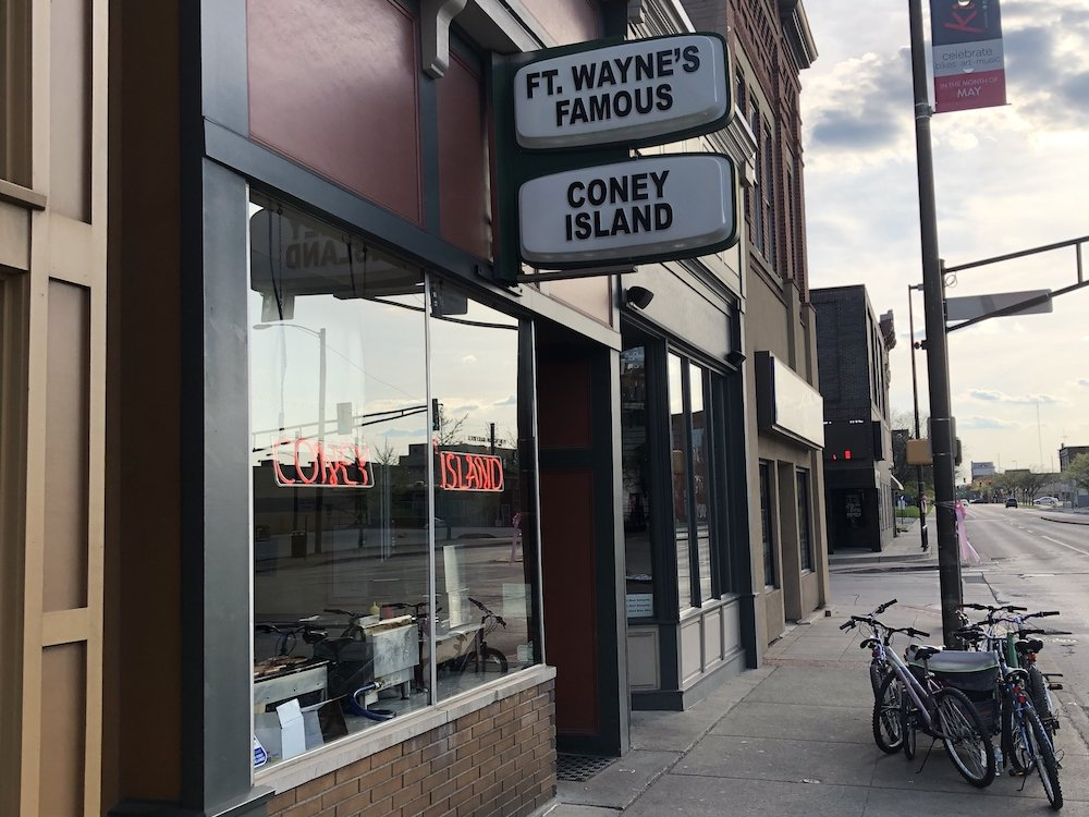 Fort Wayne's Famous Coney Island entryway