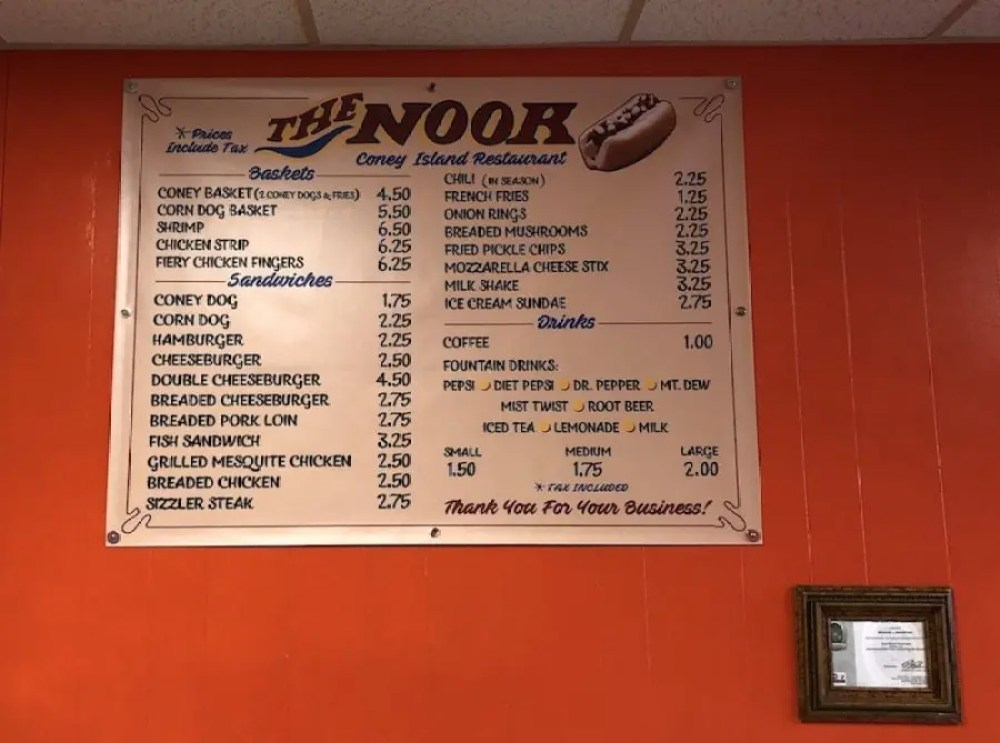 The Nook Menu