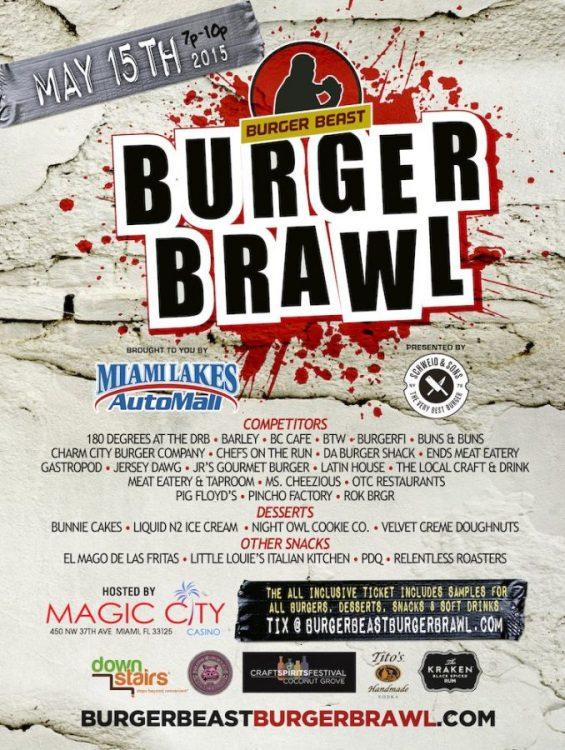 Burger Beast Burger Brawl 2015 Poster