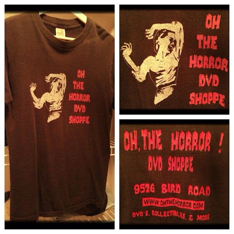 Oh, The Horror! DVD Shoppe Tee
