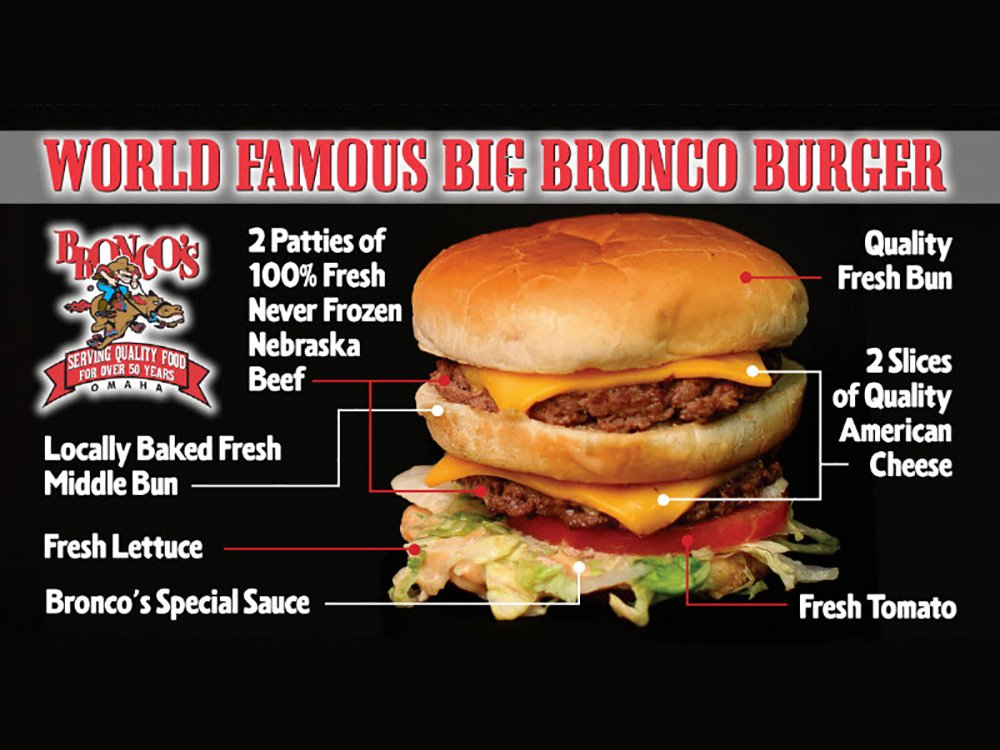 Bronco's Hamburgers and their World Famous Big Bronco