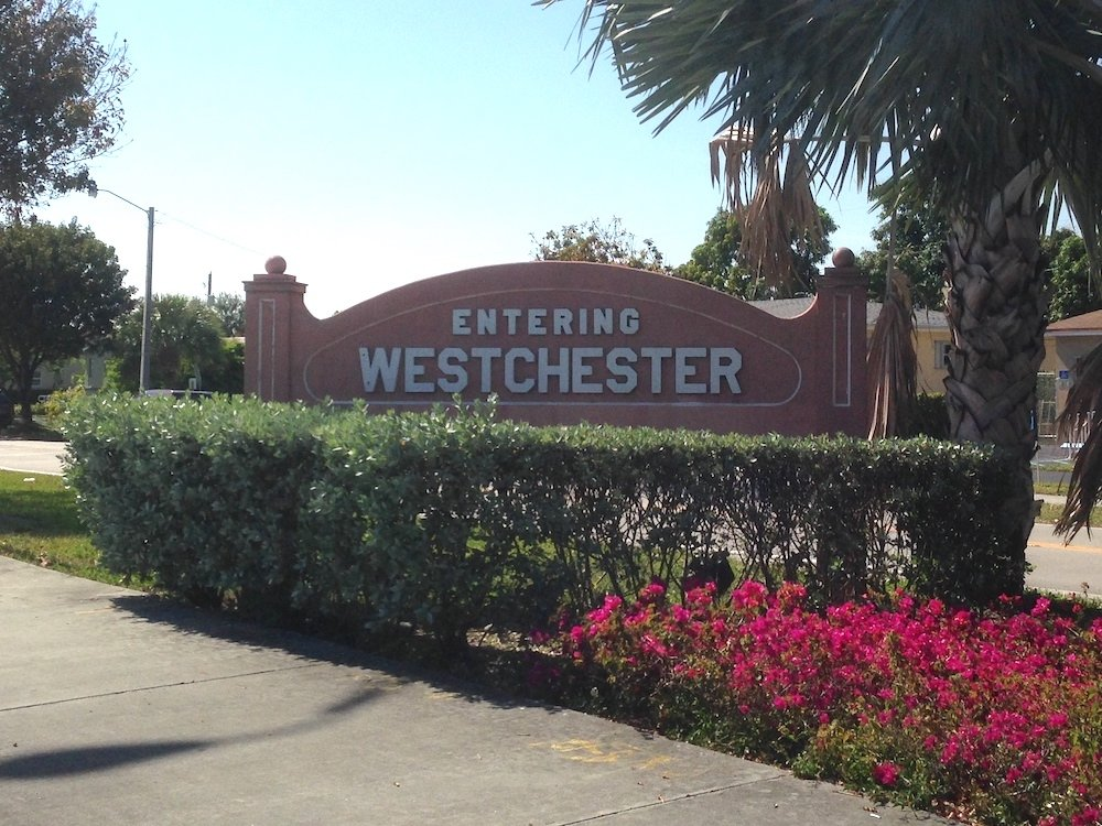 Entering Westchester Sign