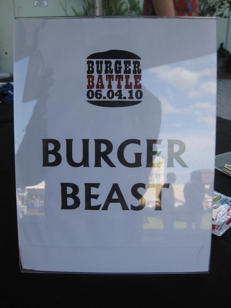 Burger Beast Judge's Sign