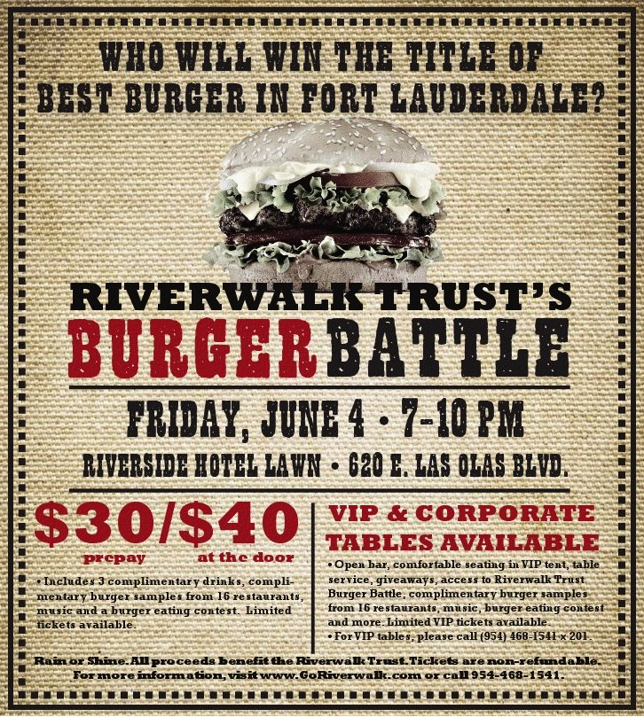 Riverwalk Burger Battle 2010 Poster