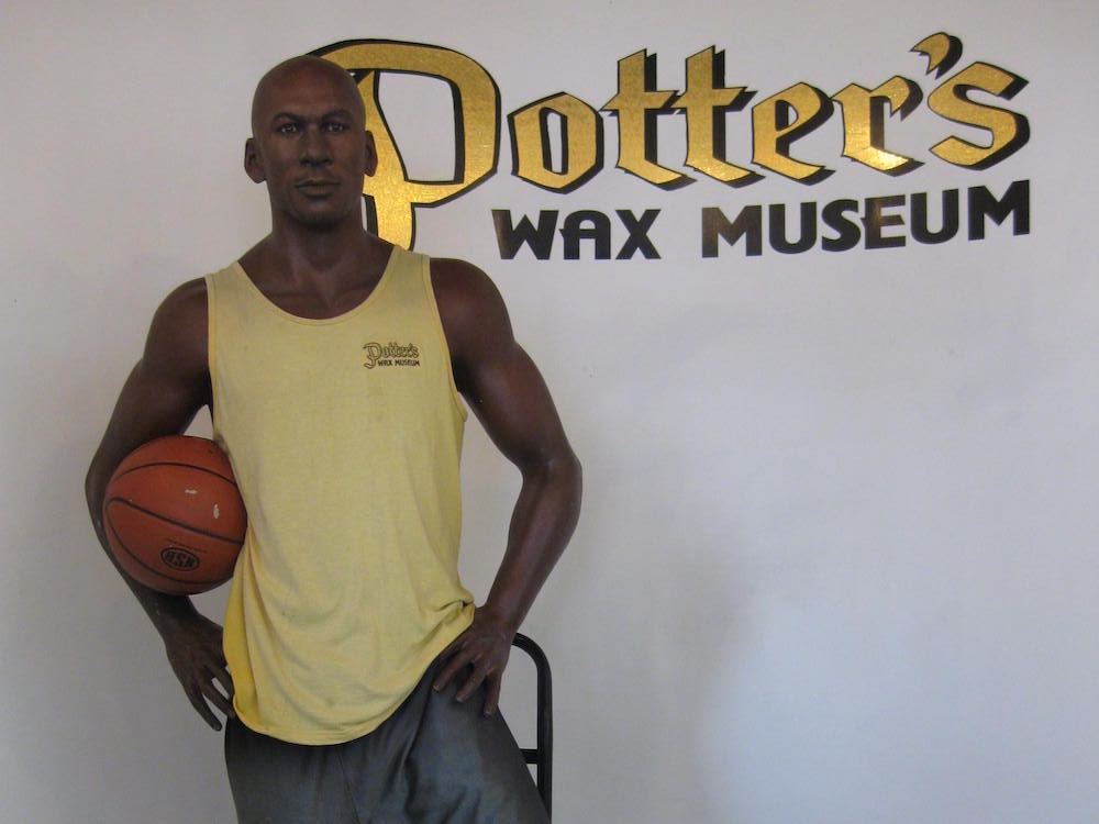 Potter's Wax Museum with Michael Jordan