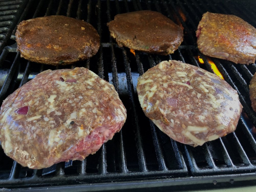 Grilling Cheddar Bacon Burgers
