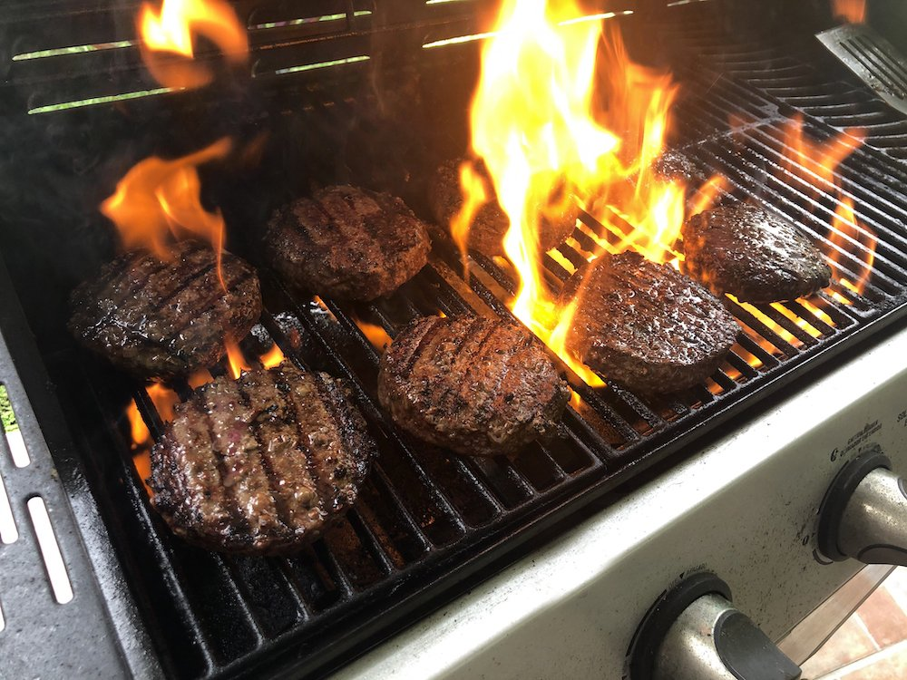 Dry Aged & Wagyu Burgers Grilling