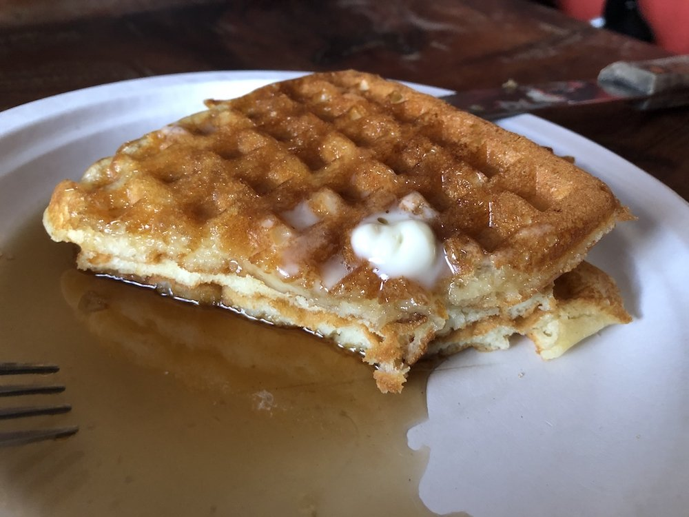 Aretha Frankenstein's Waffles with Syrup