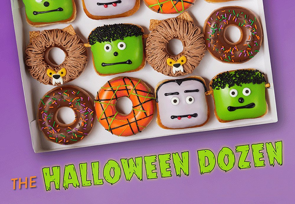 The Halloween Dozen Doughnuts from Krispy Kreme
