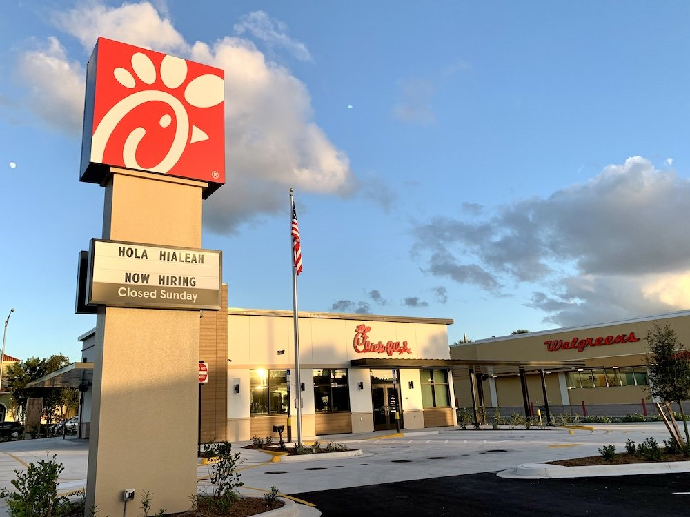 Chick-fil-A Hialeah during the day