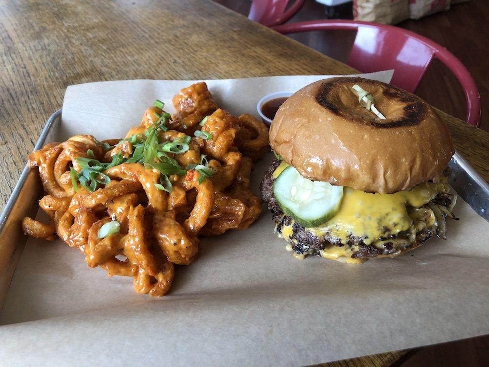 Swine & Sons OK Onion Smash Burger Platter