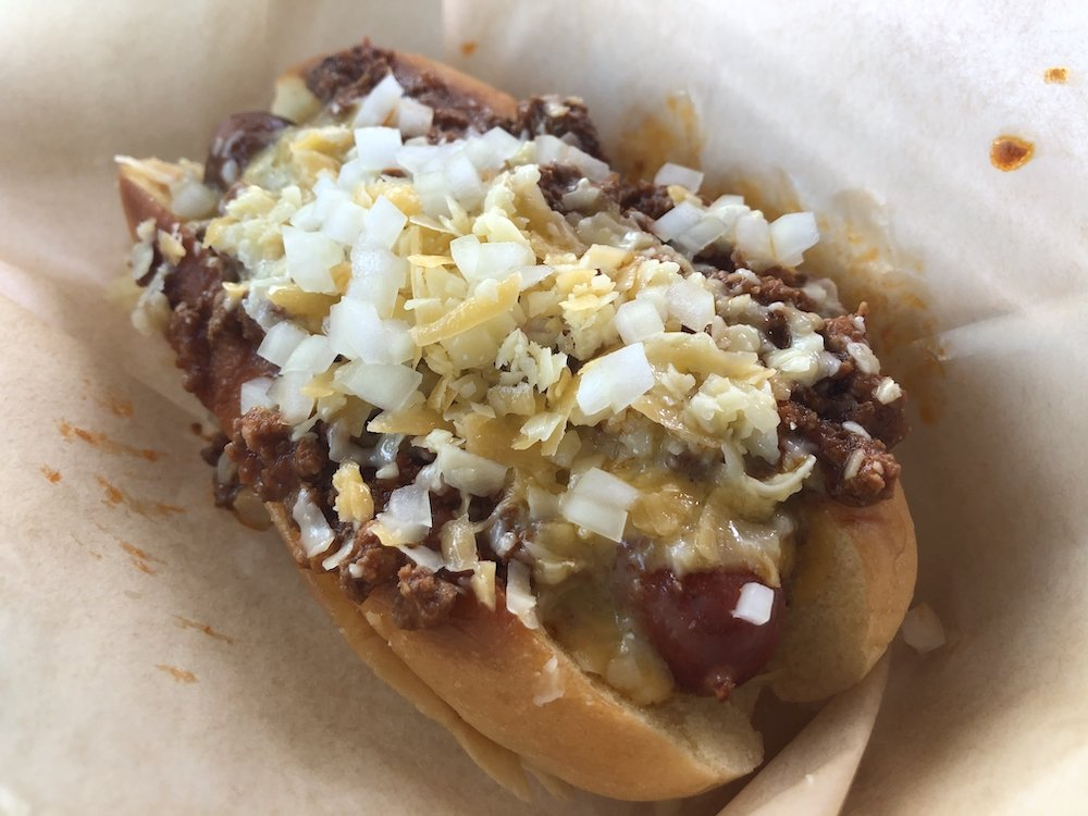 Babe's Meat & Counter Chili Dog