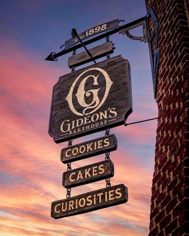 Gideon's Bakehouse Hanging Sign