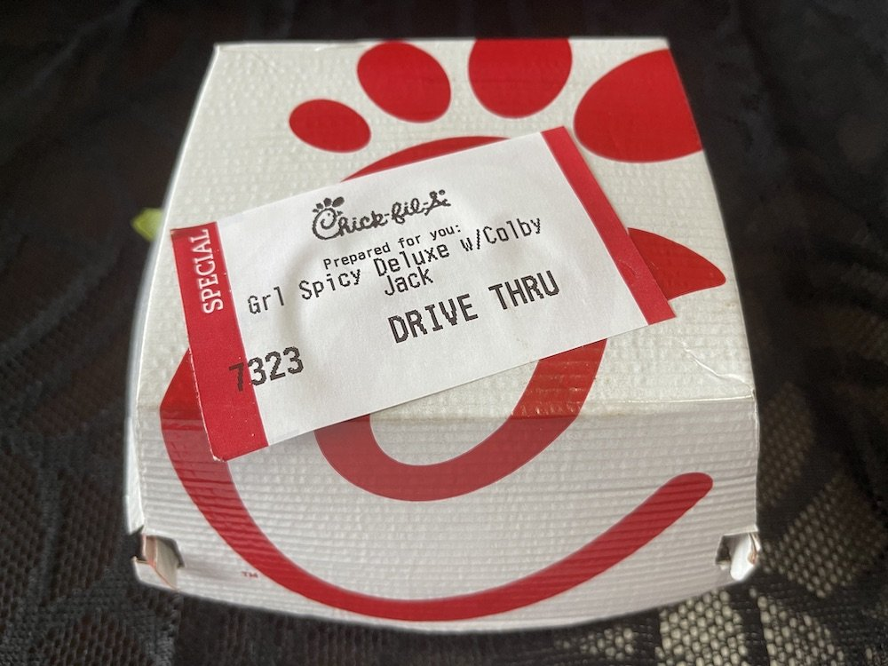 Chick-fil-A Grilled Chicken Spicy Deluxe Sandwich Box